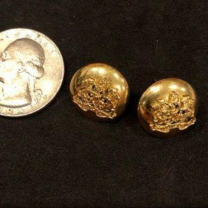 Vintage Ralph Lauren goldtone crest earrings